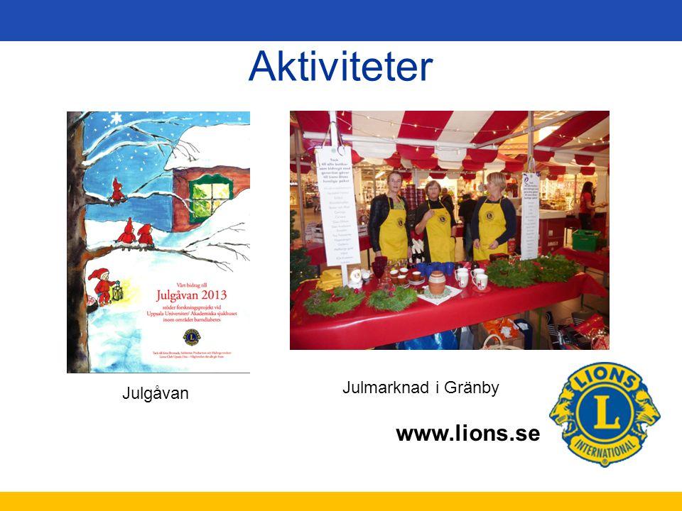 Aktiviteter Julmarknad i Gränby Julgåvan