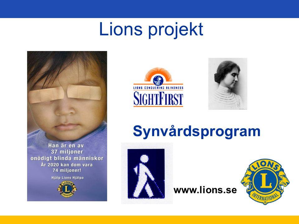 Lions projekt Synvårdsprogram Bild och text får inte ändras