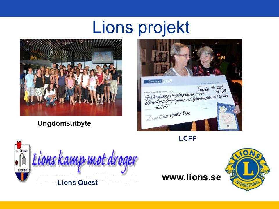 Lions projekt Ungdomsutbyte. LCFF Lions Quest