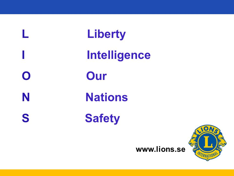 L Liberty I Intelligence. O Our. N Nations.