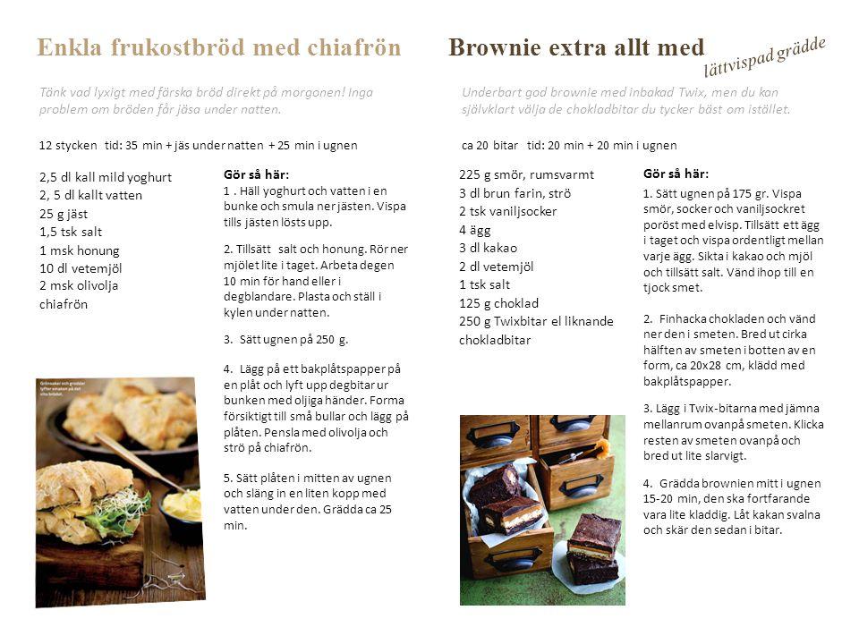 Enkla frukostbröd med chiafrön Brownie extra allt med