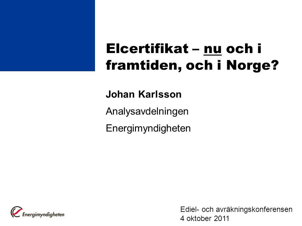 Elcertifikat – nu och i framtiden, och i Norge