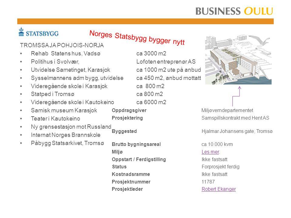 Norges Statsbygg bygger nytt