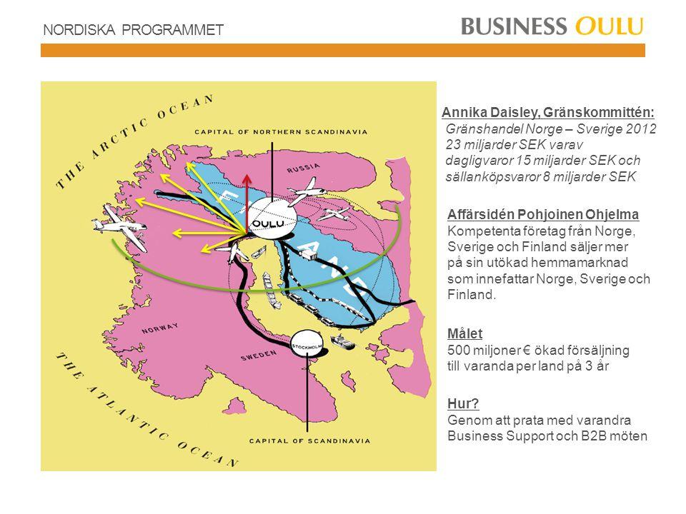NORDISKA PROGRAMMET Annika Daisley, Gränskommittén: