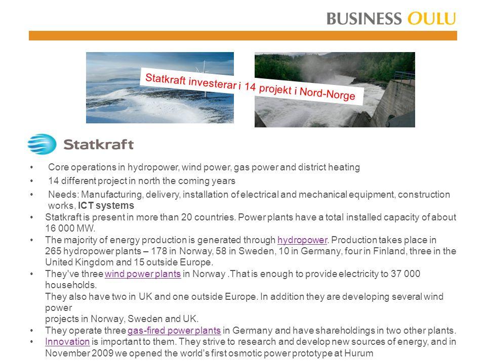 Statkraft investerar i 14 projekt i Nord-Norge