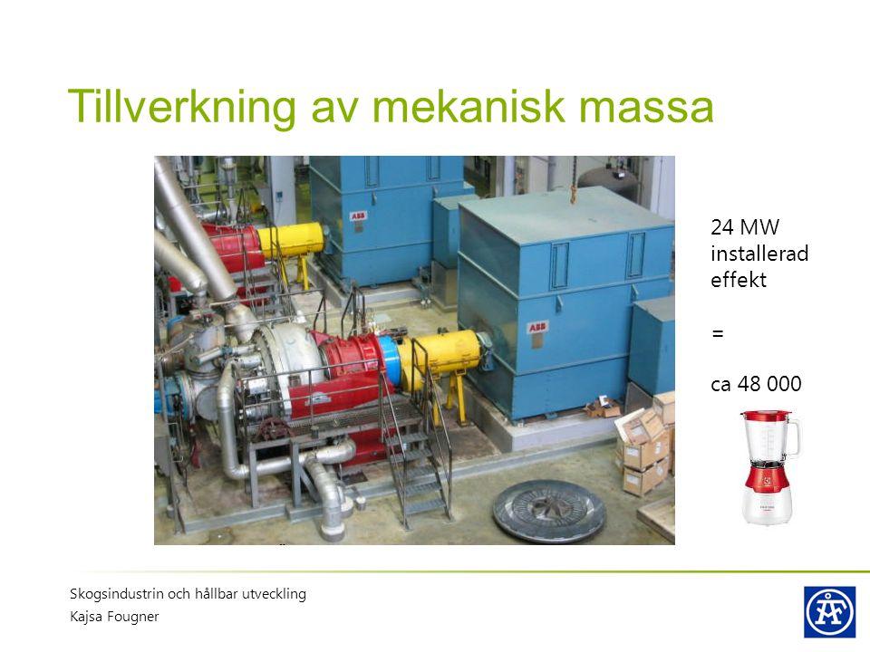 Tillverkning av mekanisk massa