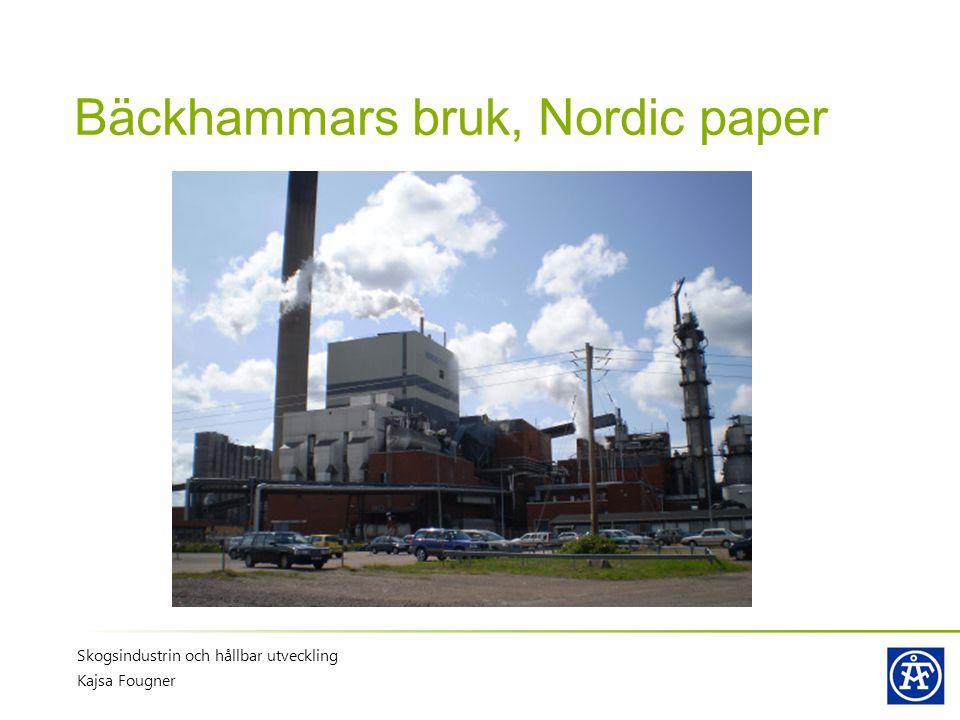 Bäckhammars bruk, Nordic paper