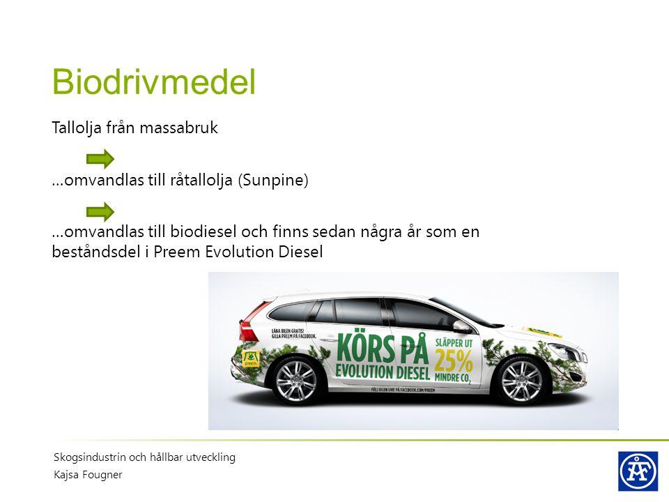 Biodrivmedel Tallolja från massabruk