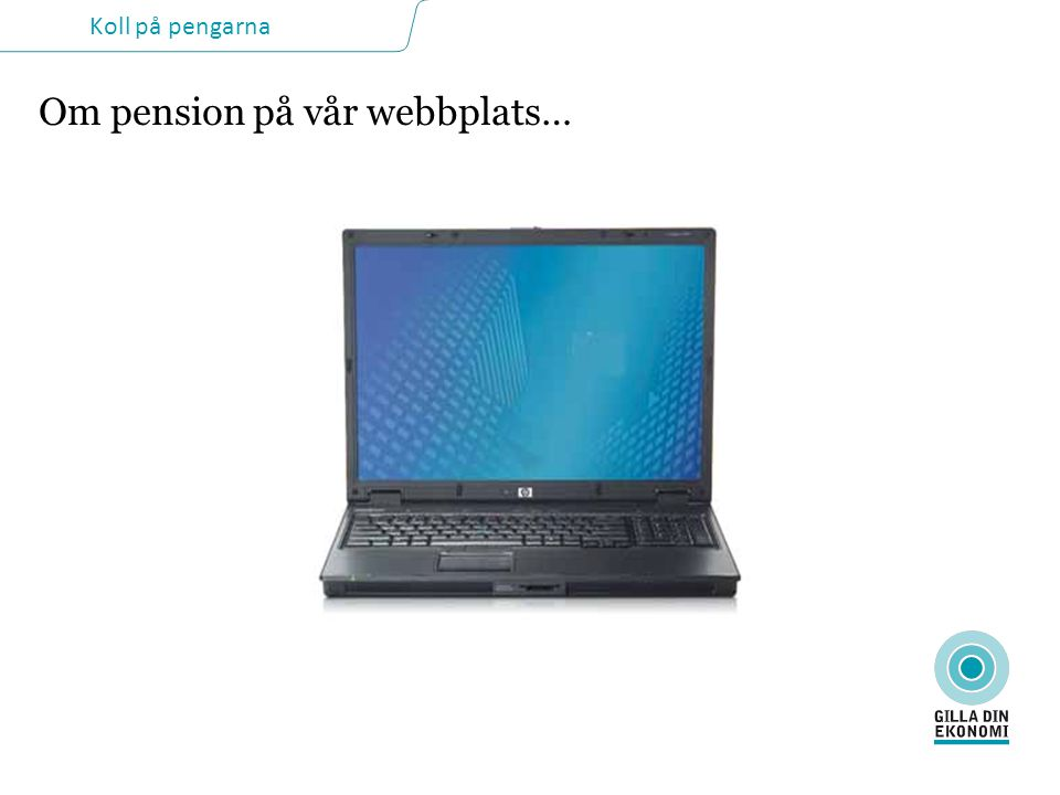 Om pension på vår webbplats…