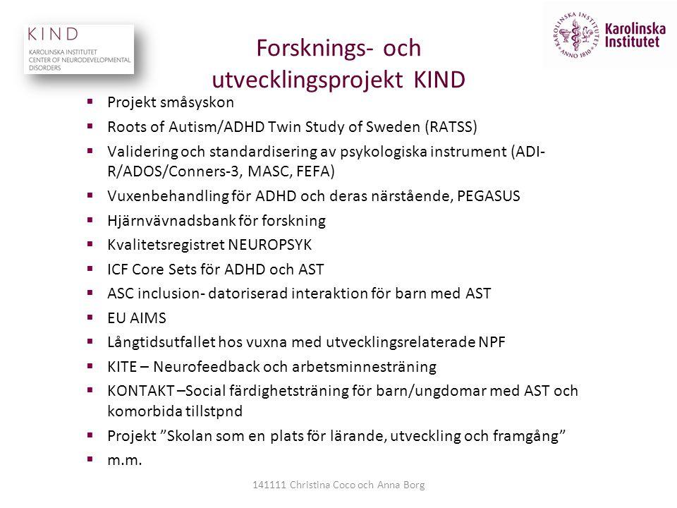 Forsknings- och utvecklingsprojekt KIND