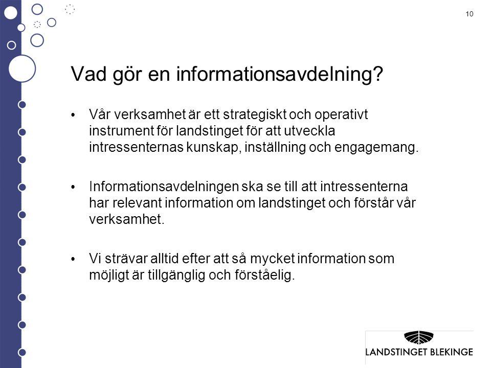 Vad gör en informationsavdelning
