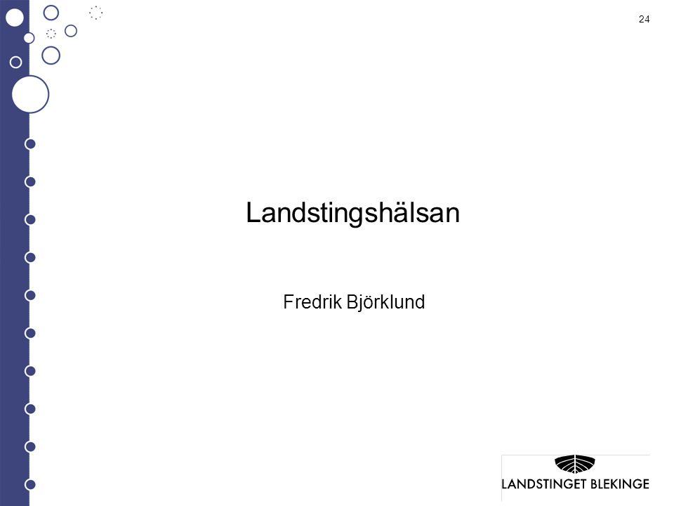 Landstingshälsan Fredrik Björklund
