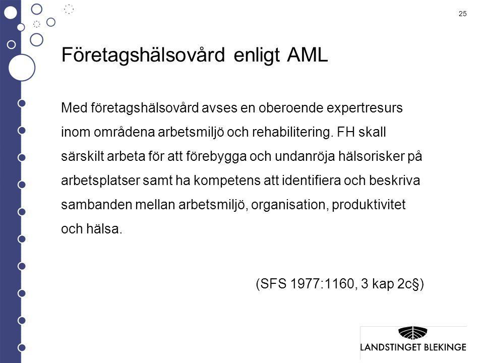 Företagshälsovård enligt AML