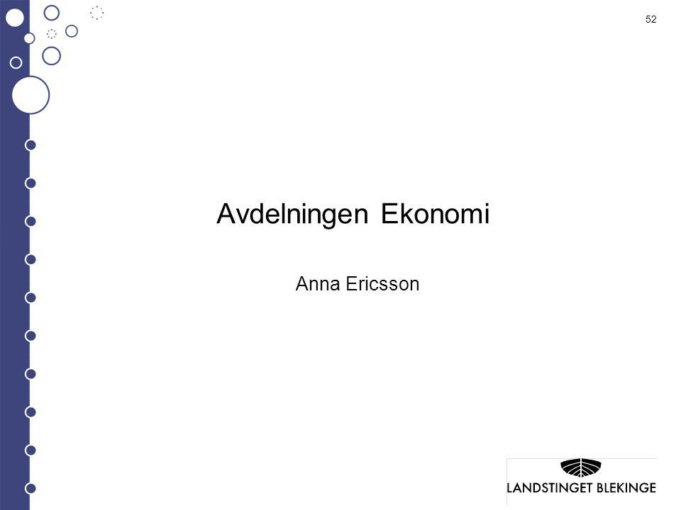 Avdelningen Ekonomi Anna Ericsson