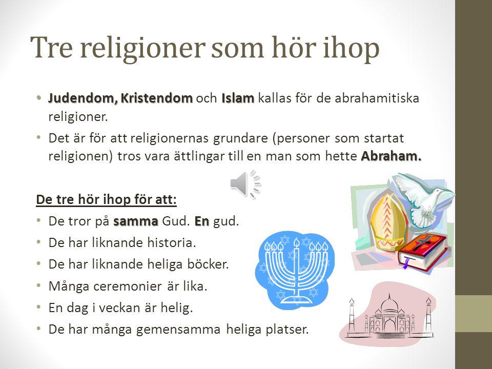 Tre religioner som hör ihop