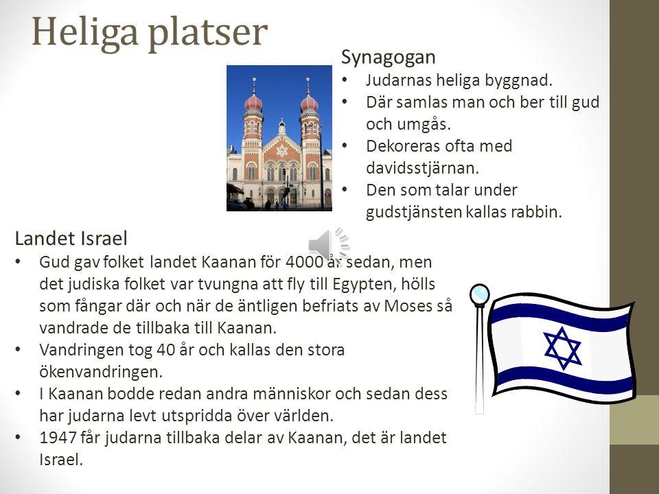 Heliga platser Synagogan Landet Israel Judarnas heliga byggnad.