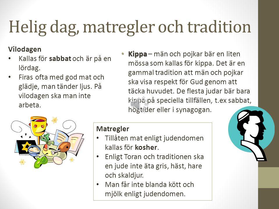 Helig dag, matregler och tradition