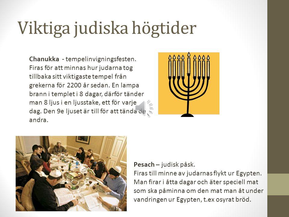 Viktiga judiska högtider