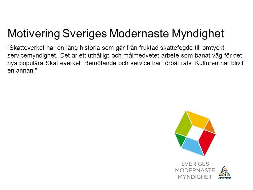 Motivering Sveriges Modernaste Myndighet