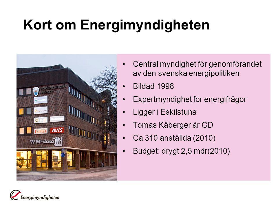 Kort om Energimyndigheten