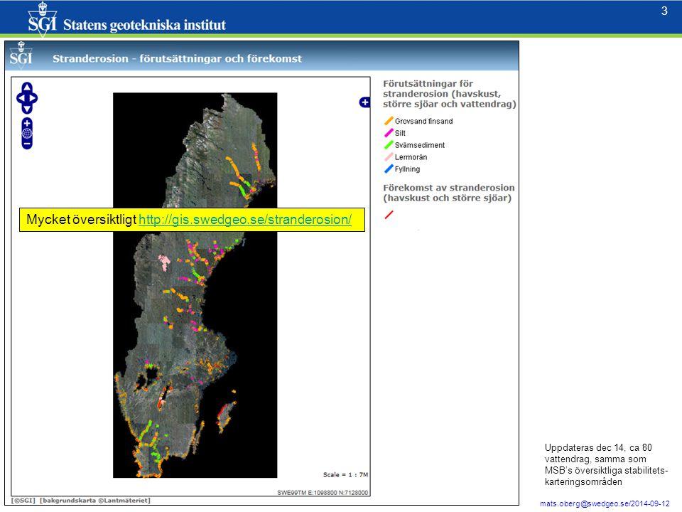 Mycket översiktligt http://gis.swedgeo.se/stranderosion/