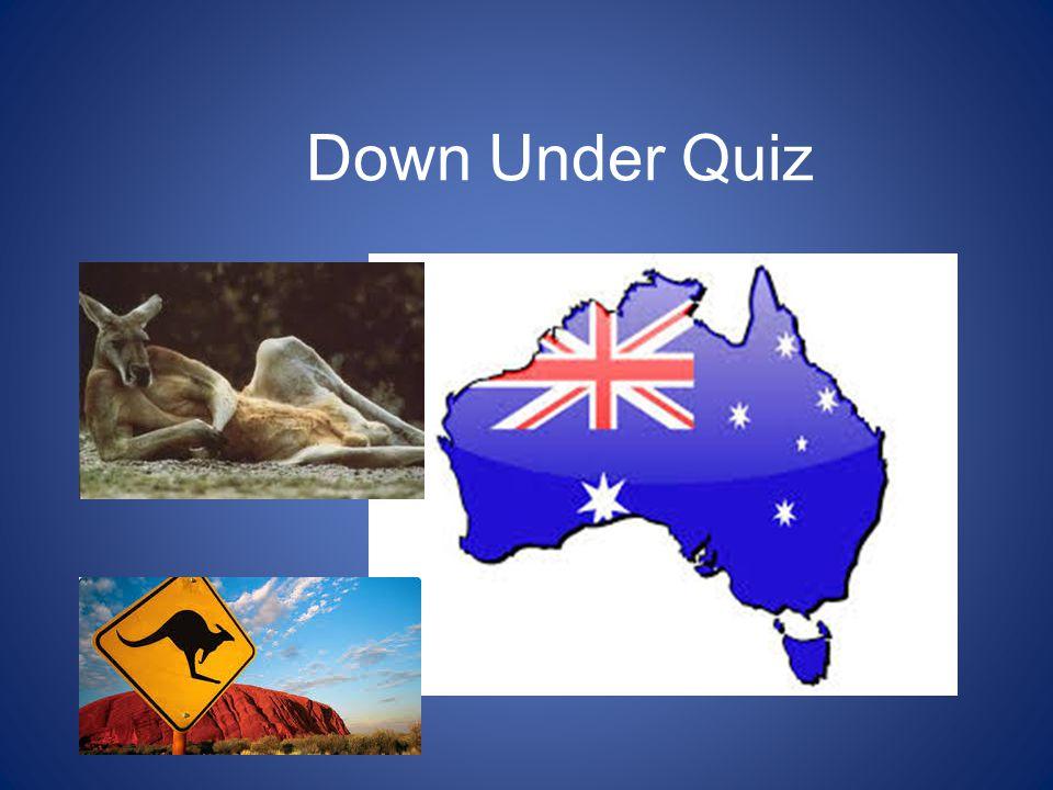 Down Under Quiz