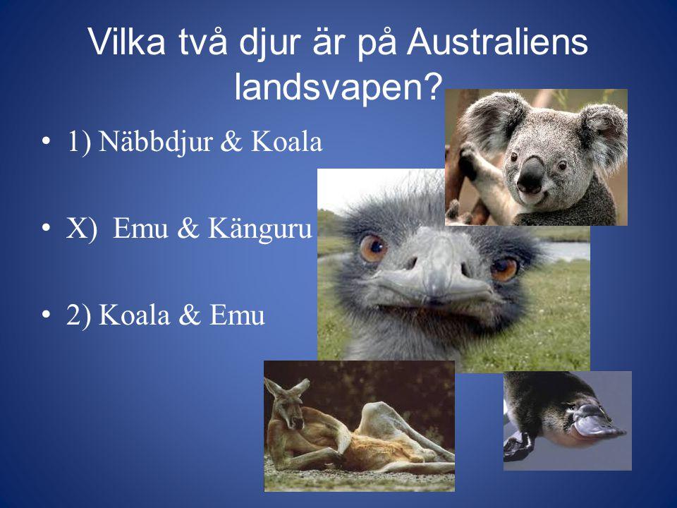 Vilka två djur är på Australiens landsvapen