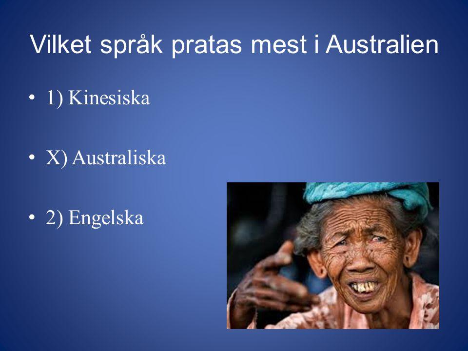 Vilket språk pratas mest i Australien