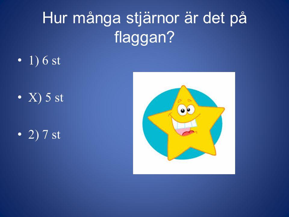 Hur många stjärnor är det på flaggan