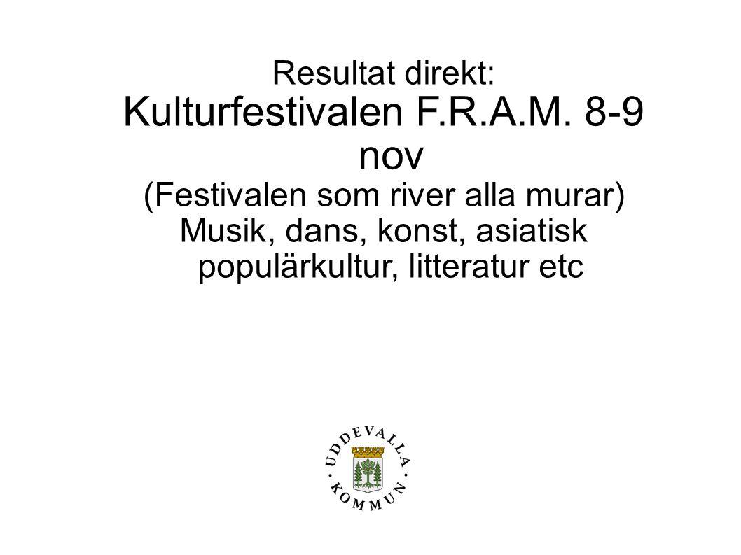 Kulturfestivalen F.R.A.M. 8-9 nov
