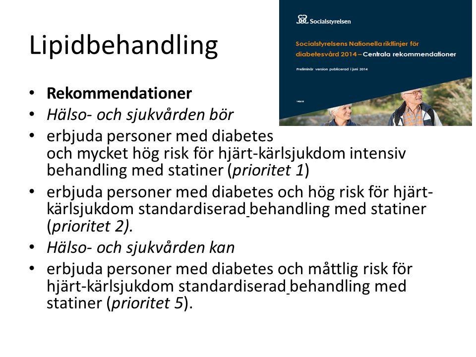 Lipidbehandling Rekommendationer Hälso- och sjukvården bör