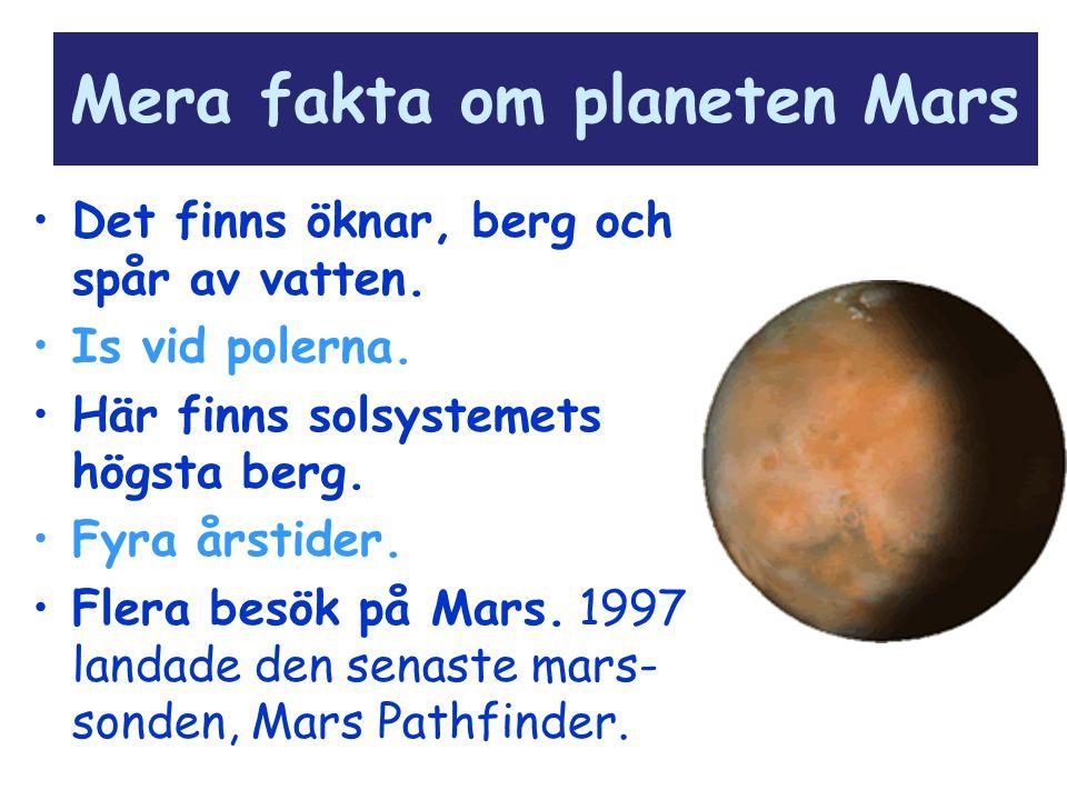 Mera fakta om planeten Mars