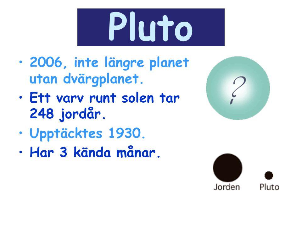 Pluto 2006, inte längre planet utan dvärgplanet.
