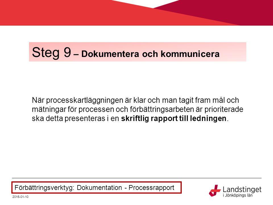 Steg 9 – Dokumentera och kommunicera