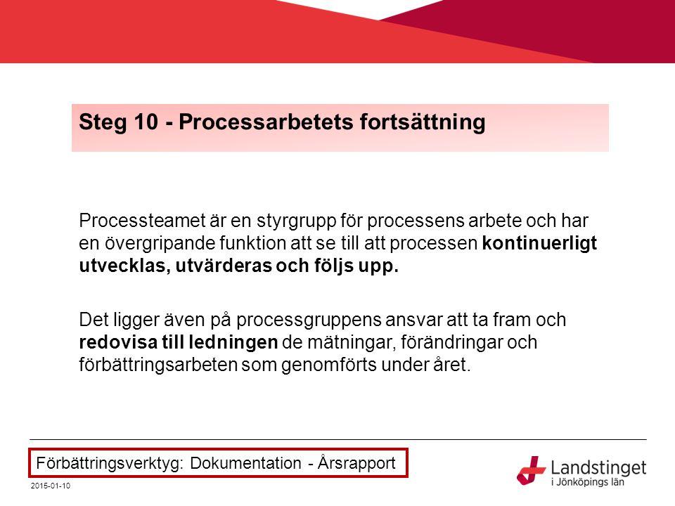 Steg 10 - Processarbetets fortsättning