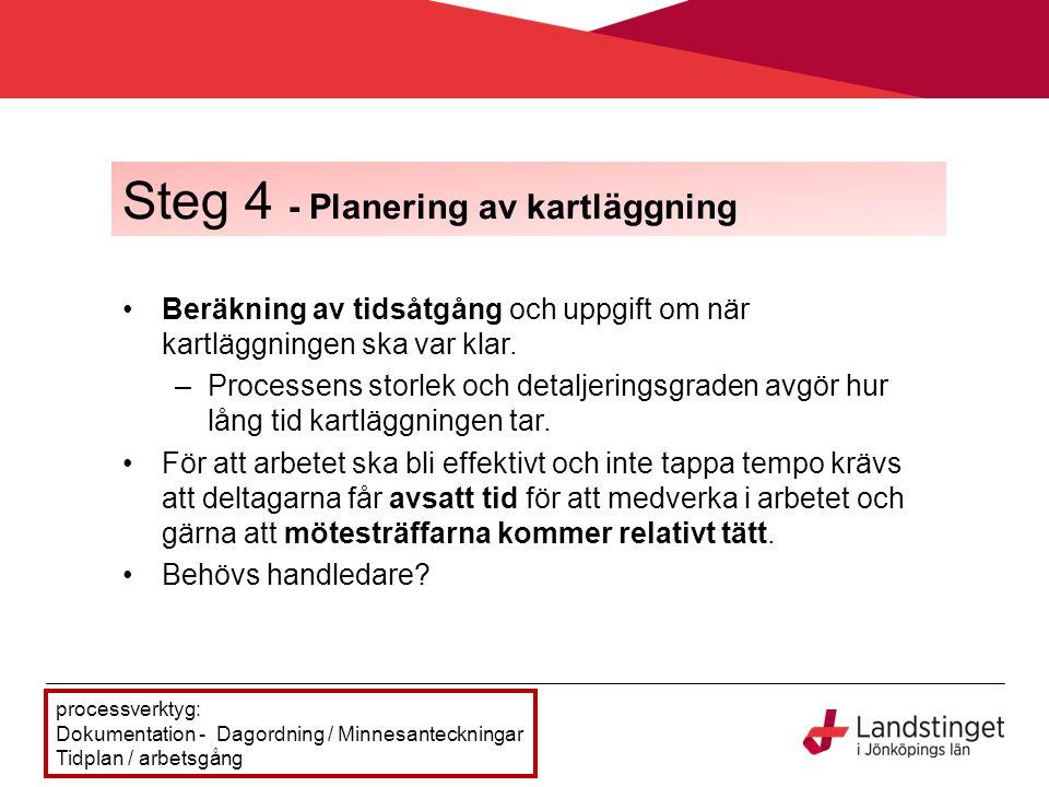 Steg 4 - Planering av kartläggning