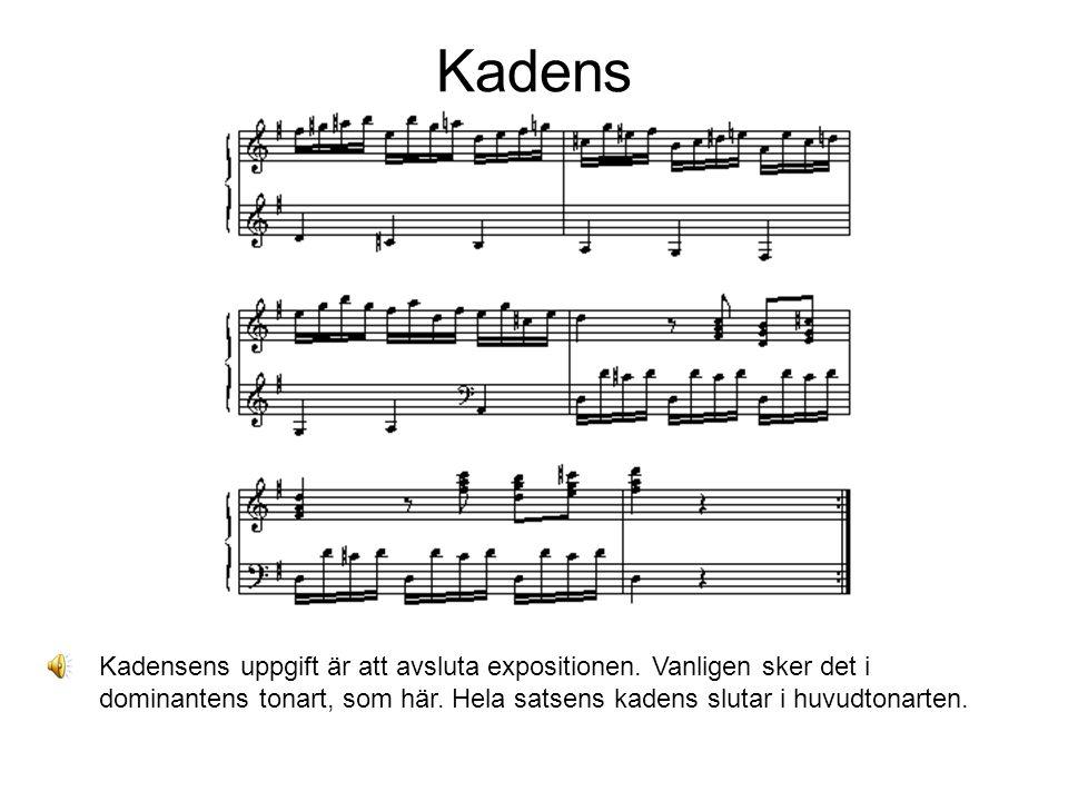 Kadens Kadensens uppgift är att avsluta expositionen.