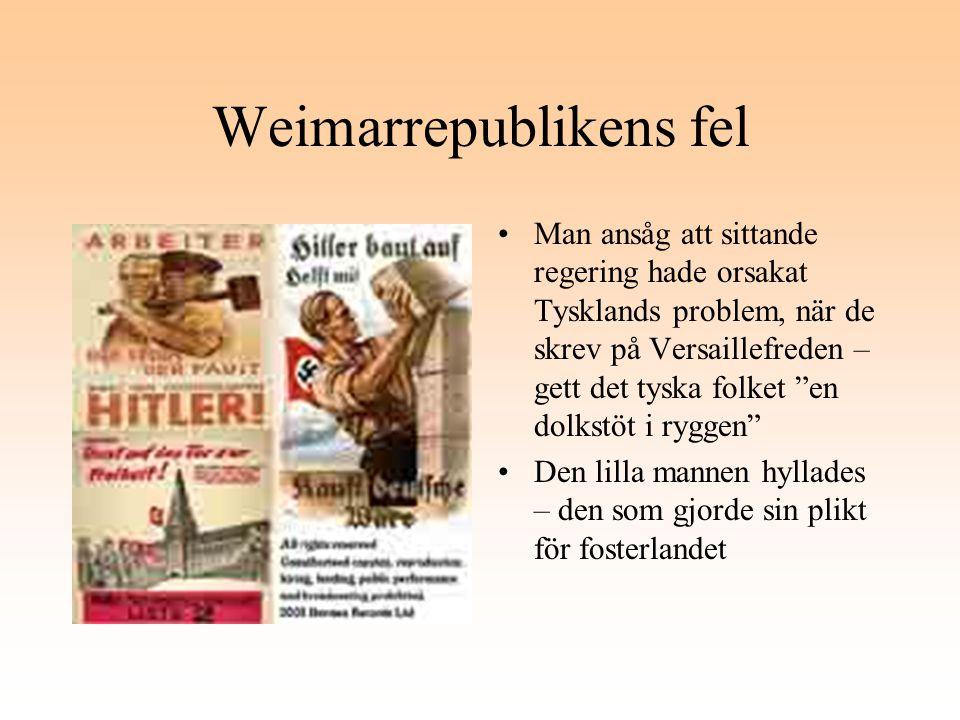 Weimarrepublikens fel