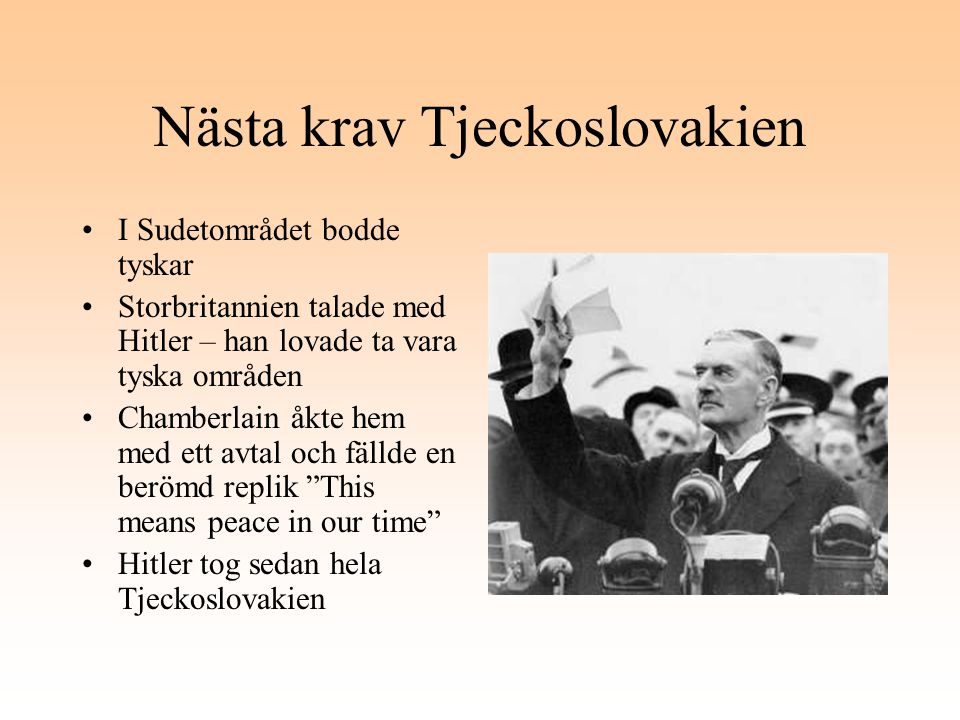 Nästa krav Tjeckoslovakien