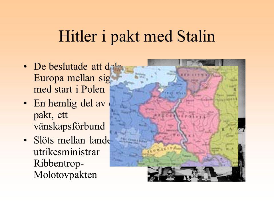 Hitler i pakt med Stalin