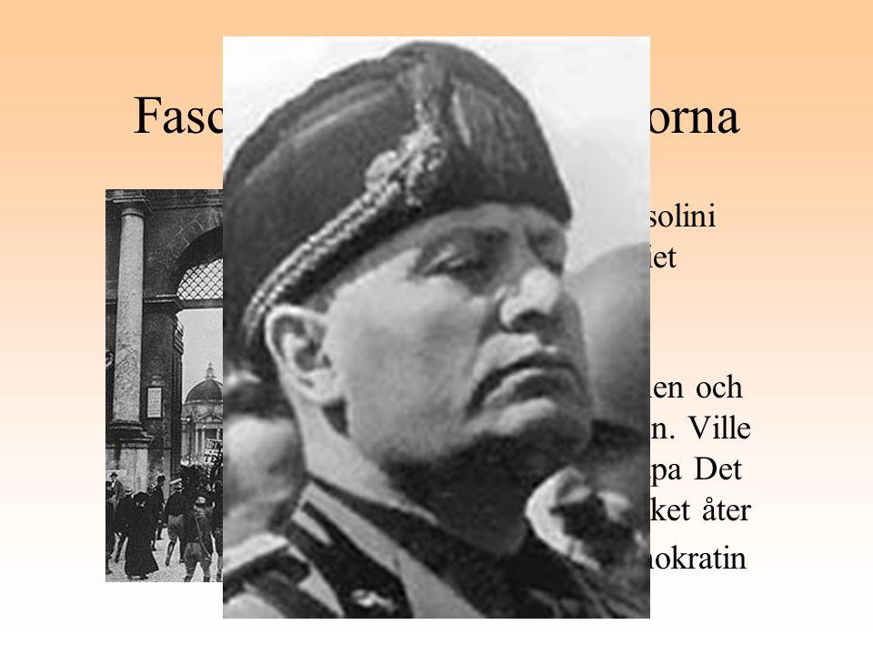 Fascisterna - svartskjortorna