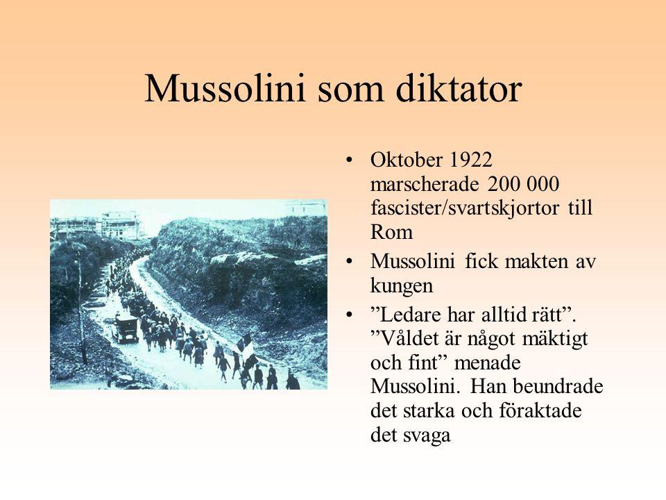 Mussolini som diktator