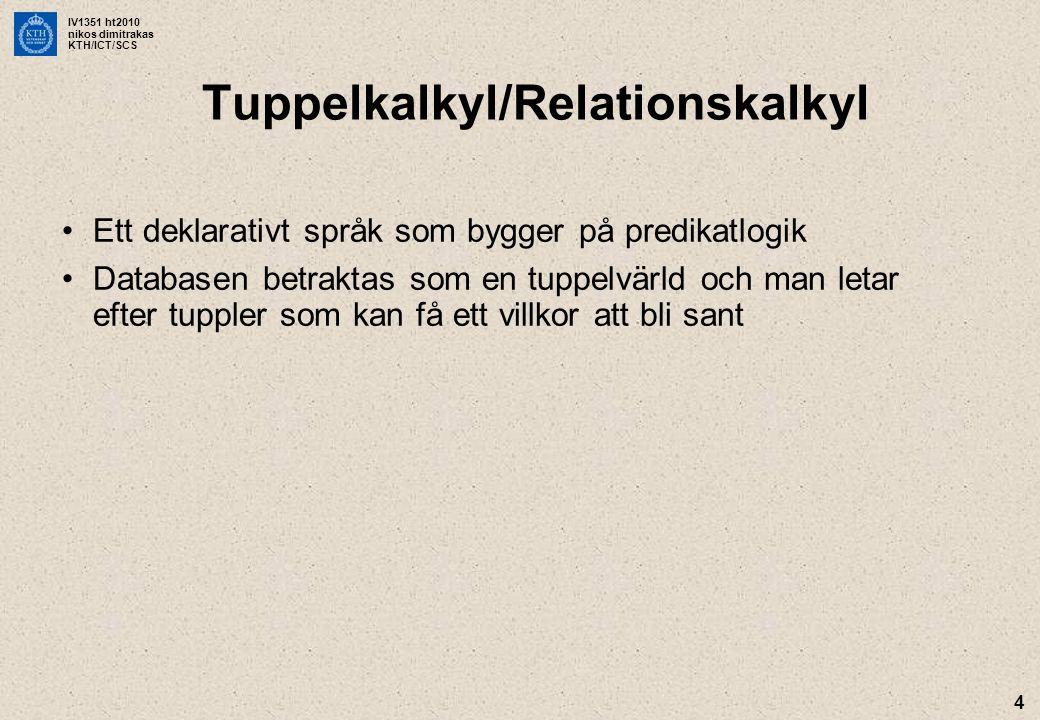 Tuppelkalkyl/Relationskalkyl
