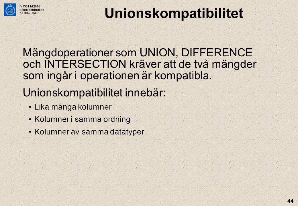 Unionskompatibilitet