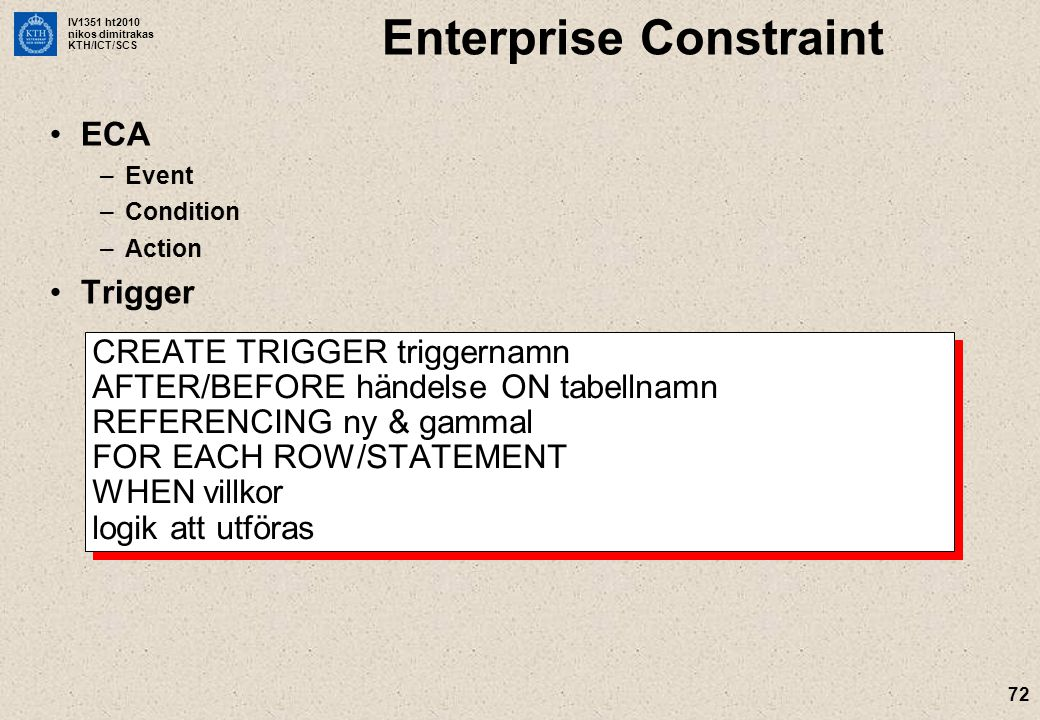 Enterprise Constraint