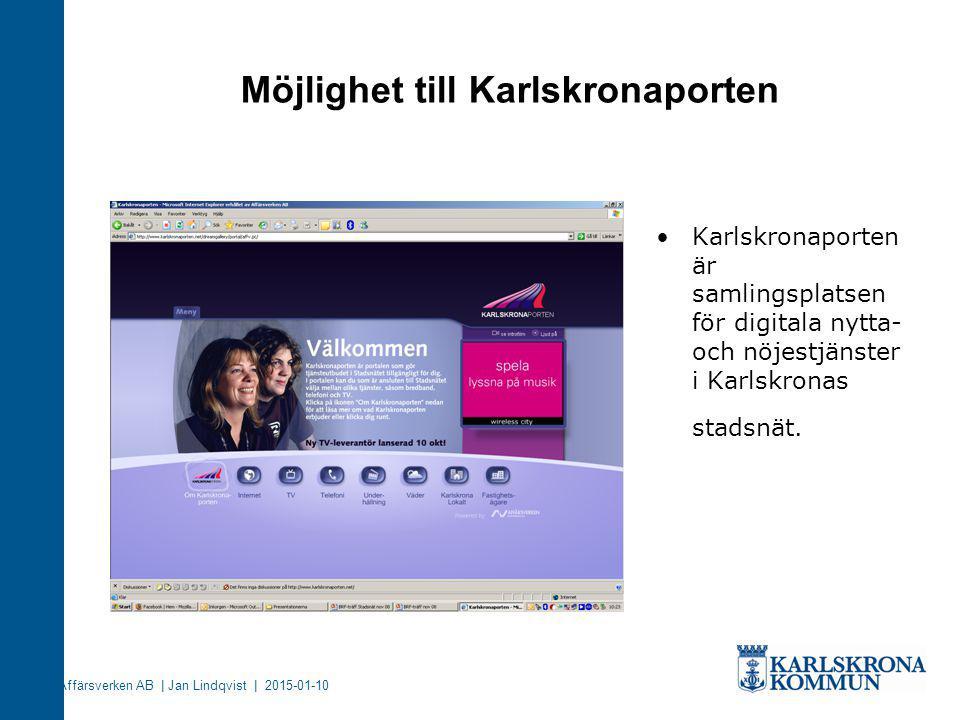 Möjlighet till Karlskronaporten