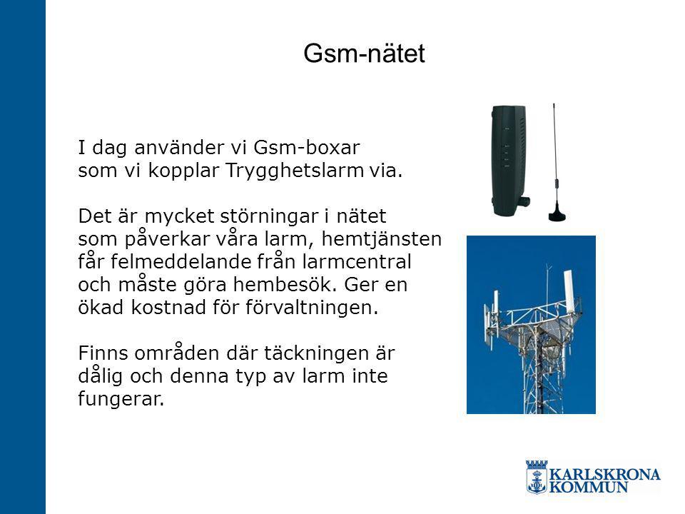 Gsm-nätet I dag använder vi Gsm-boxar