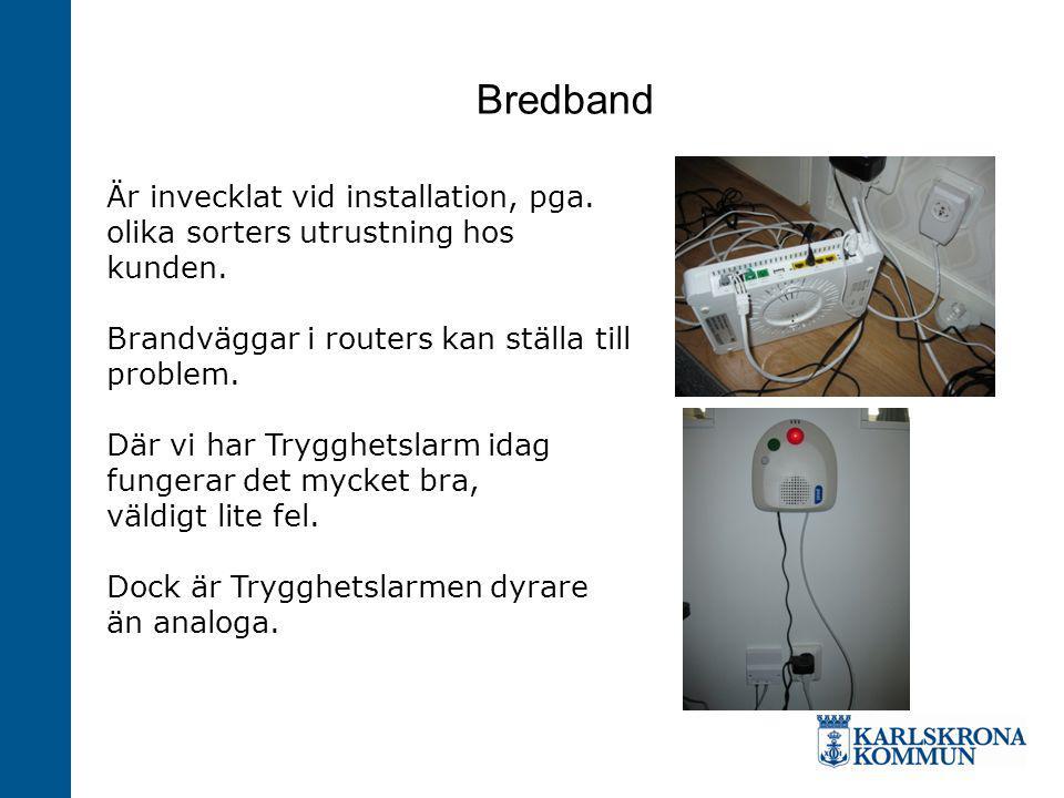 Bredband Är invecklat vid installation, pga.