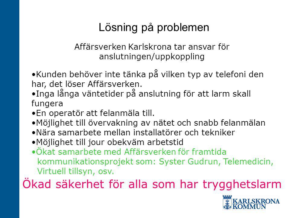 Affärsverken Karlskrona tar ansvar för anslutningen/uppkoppling