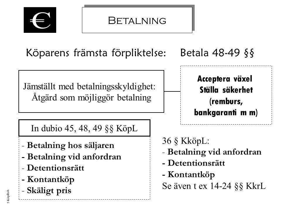 Köparens främsta förpliktelse: Betala 48-49 §§